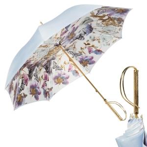 Зонт-трость Pasotti Sky Butterfly Rapira Oro фото-1