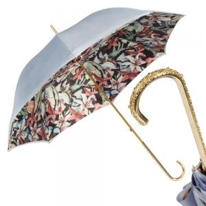 Зонт-трость Pasotti Sky Iris Black Dentell Oro фото-1