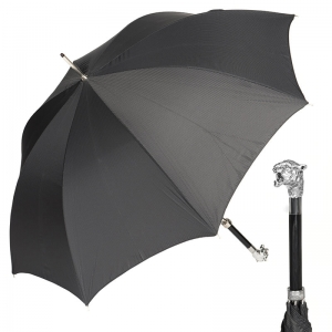 Зонт-трость Pasotti Tiger Silver StripesS Black фото-1