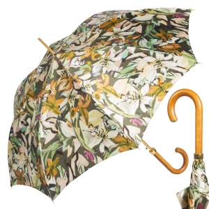 Зонт-трость Pasotti Uno Iris Verde Legno фото-1