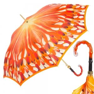 Зонт-трость Pasotti Uno Penna Orange Boo фото-1