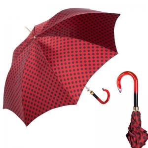 Зонт-трость Pasotti Uno Pois Rosso/Nero фото-1