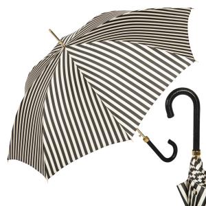 Зонт-трость Pasotti Uno Stripes Nero Beige фото-1