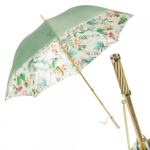 Зонт-трость Pasotti Verde Ninfea Strass фото-1