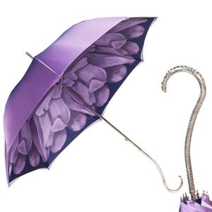 Зонт-трость Pasotti Viola Georgin Nickel фото-1
