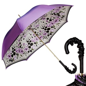 Зонт-трость Pasotti Viola Poppy Pelle фото-1