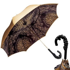 Зонт-трость Pasotti Becolore Gialo Leo Fiore Pelle фото-1