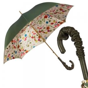 Зонт-трость Pasotti Oliva Prato Pelle фото-1