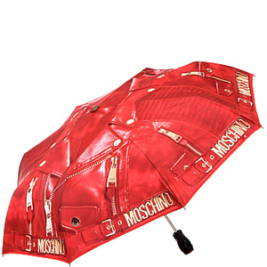 Зонт складной Moschino 8200-OCC Biker Jacket Red фото-2