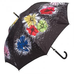 Зонт-трость Moschino 7055-63AUTOA Flower Doodles Black фото-1