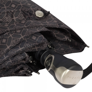 Зонт складной Bugatti 74667007-OC Print Black фото-3