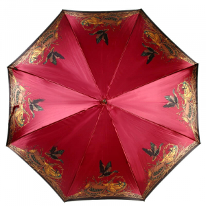 Зонт-трость Emme M329E-LA King SecretAtlas Bordo фото-2