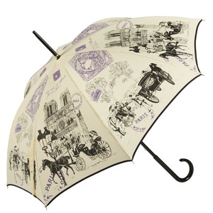 Зонт-трость GDJ 1011-LA NotreDame Crema long фото-3