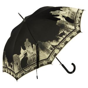 Зонт-трость Guy De Jean 3497-LA Cats Noir long фото-3