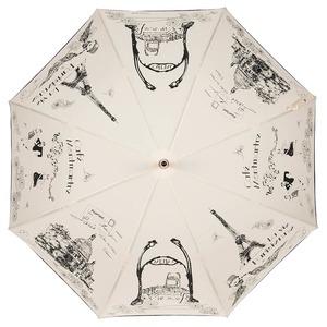Зонт-трость Guy de Jean Love Paris Beige col18 фото-2