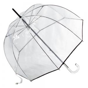 Зонт-трость Прозрачный Guy De Jean 1001-LM Seventies Noir фото-2