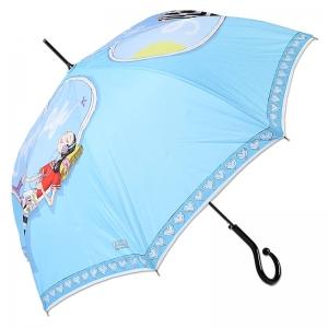 Зонт-троcть Moschino 262-61AUTOP Olivia enjoy life blue long фото-1