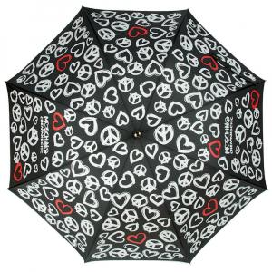 Зонт-трость Moschino 277-63AUTOA Peace Hearts Black фото-2