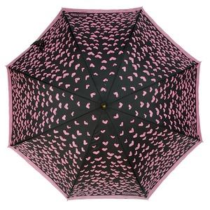 Зонт-трость Moschino 285-61AUTOJ Lipstick Hearts long Fuxia фото-2