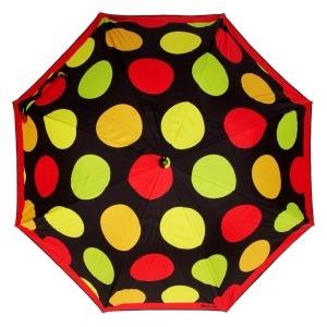 Зонт-трость Moschino 417-61AUTOA Maxi Pois long Black фото-2