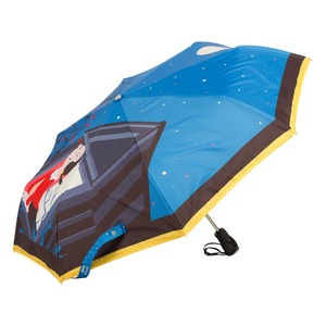 Зонт складной Moschino 7022-OCF Olivia Juliet Blue фото-2