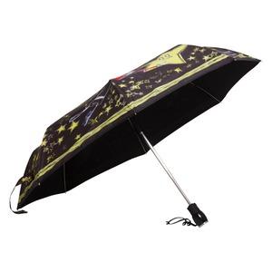 Зонт складной Moschino 7036-OCA Olivia Stars Black фото-3