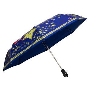 Зонт складной Moschino 7036-OCF Olivia Stars Blue фото-3