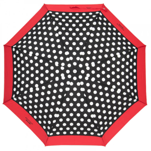 Зонт складной Moschino 7220-OCAC Polka Dots Black/Red фото-2