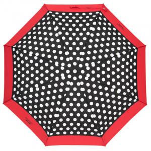 Зонт складной Moschino 7220-OCAC Polka Dots Black/Red фото-2