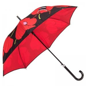 Зонт-трость Moschino 7520-D63AUTOC Olivia and Poppies Black/Red  фото-2