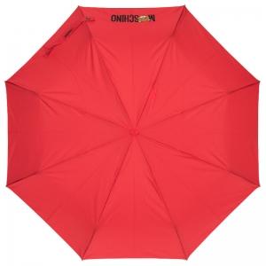 Зонт складной Moschino 8002-OCC Teddy Logo Red фото-2