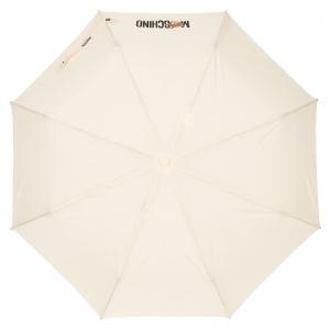 Зонт складной Moschino 8002-OCI Teddy Logo Cream фото-2