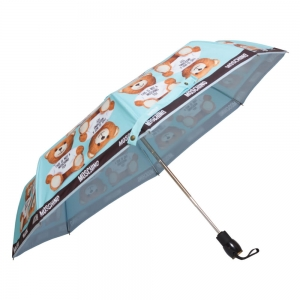 Зонт складной Moschino 8156-OCP Photo Bear Light Blue фото-3