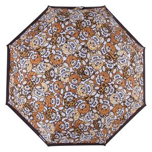 Зонт складной M 8232-OCA Teddy Animalier Black фото-3