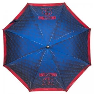 Зонт-трость Moschino 8249-63AUTOA Matelasse Blue фото-2
