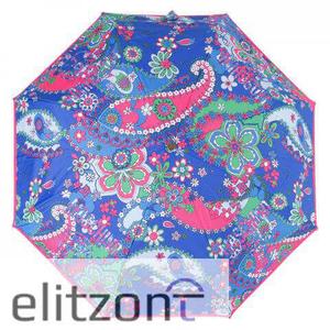 Зонт складной Moschino 8264-OCF Paisley Blue Multi фото-3