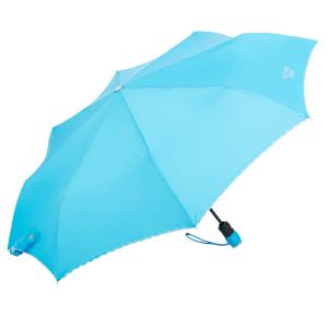 Зонт складной Moschino 7000-OCP Embroidery Azzurro фото-2