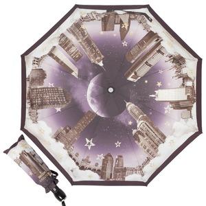 Зонт складной Moschino 7002-OCA Romantic City Black фото-1