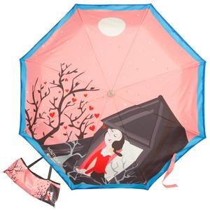 Зонт складной Moschino 7022-OCN Olivia Juliet Pink фото-1