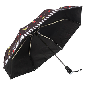 Зонт складной Moschino 7086-OCA Olivia Umbrellas Black фото-3