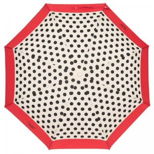 Зонт складной Moschino 7220-OCIC Polka Dots Cream/Red фото-2