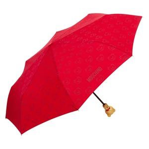 Зонт складной Moschino 8043-OCC Monobear Gold Red фото-2