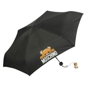 Зонт складной Moschino 8194-SUPERMINIA Hidden Teddy Black фото-2