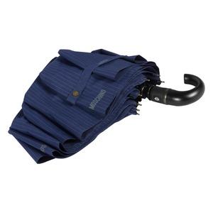 Зонт складной Moschino 8509-ToplessF Pinstripes Blue фото-4