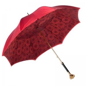 Зонт-трость Pasotti Becolore Rosso Rosa Oro Roza фото-3