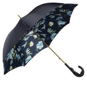 Зонт-трость Pasotti Blu Magnolia Pelle фото-4