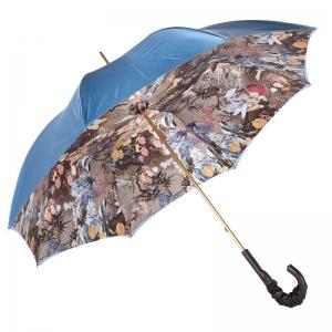 Зонт-трость Pasotti Blu Paradise Pelle фото-3