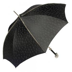 Зонт-трость Pasotti Capo Silver Picco Sculls Nero фото-3