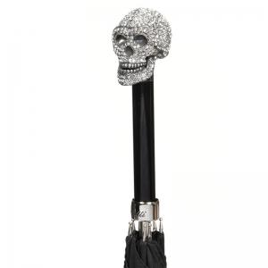 Зонт-трость Pasotti Capo Swarovski Oxford Black фото-3