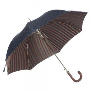 Зонт-трость Pasotti Classic Pelle Cetrio Blu фото-3